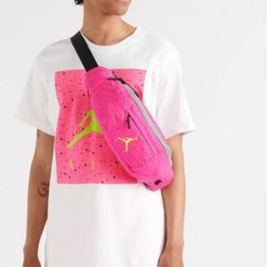 Jordan pink and yellow fanny pack